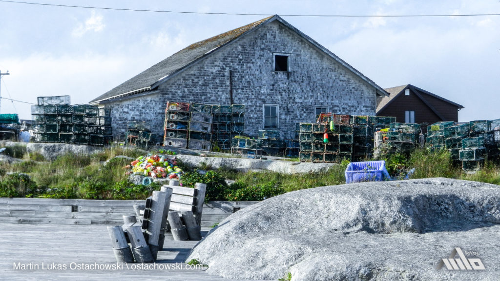 Peggy's Cove, Nova Scotia - Fisherman's House and Lobster Traps