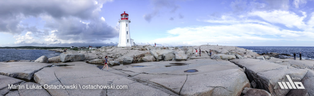 Peggy's Cove, Nova Scotia - Peggy's Point Lighthouse Panorama