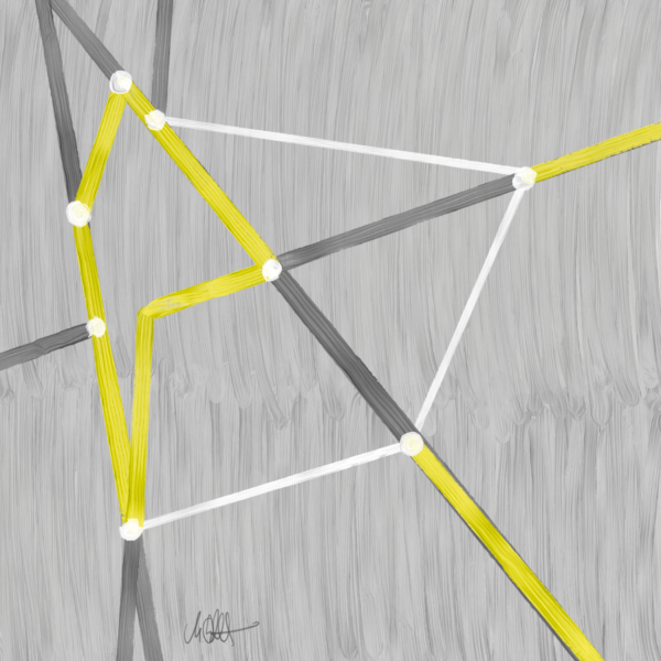 """<strong>Node Network One</strong><br />  2100 x 2100 px<br /> Digital Painting<br /> Edition 1/1<br /> Martin Lukas Ostachowski <br /><br /> Tokenized and available on <a href=""""https://superrare.co/artwork/node-network-one-491""""  target=""""_blank"""" rel=""""nofollow"""" title=""""Transaction Block - Digital Painting by Martin Lukas Ostachowski""""> SuperRare</a>"""