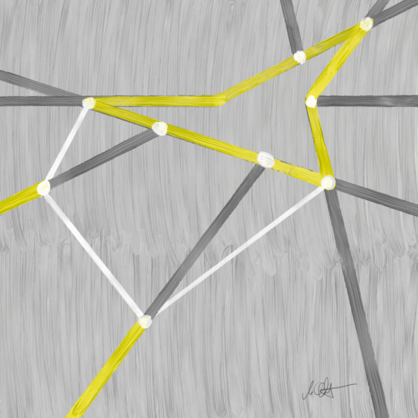 """<strong>Node Network Two</strong><br />  2100 x 2100 px<br /> Digital Painting<br /> Edition 1/1<br /> Martin Lukas Ostachowski <br /><br /> Tokenized and available on <a href=""""https://superrare.co/artwork/node-network-two-492""""  target=""""_blank"""" rel=""""nofollow"""" title=""""Transaction Block - Digital Painting by Martin Lukas Ostachowski""""> SuperRare</a>"""