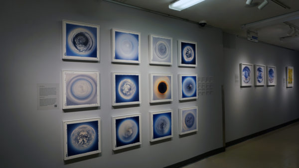 Installation Tokenized Cloud Spheres during my solo exhibition entitled: Tropopause Contemplation in Sherbrooke, QC
