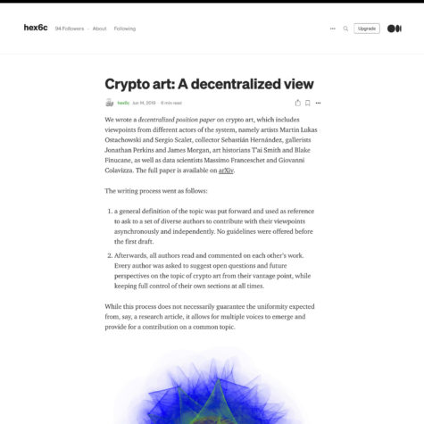 Crypto art: A decentralized view