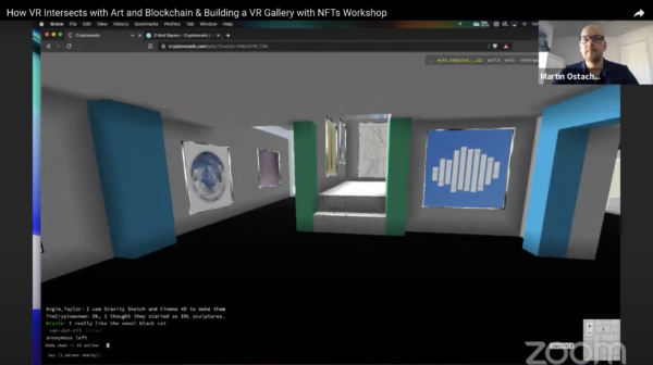 How VR Intersects with Art and Blockchain & Building a VR Gallery with NFTs Workshop