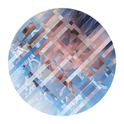 Encrypted Identity - Ex<br/><br/>Archival round canvas print<br/>w/ augmented reality<br/>20 in. diameter<br/>Limited edition of 5<br/><br/>$ 950
